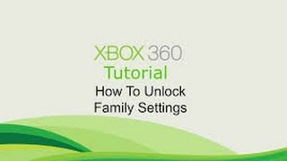 How to get past family settings on Xbox (Dashboard:2.0.17349.0)