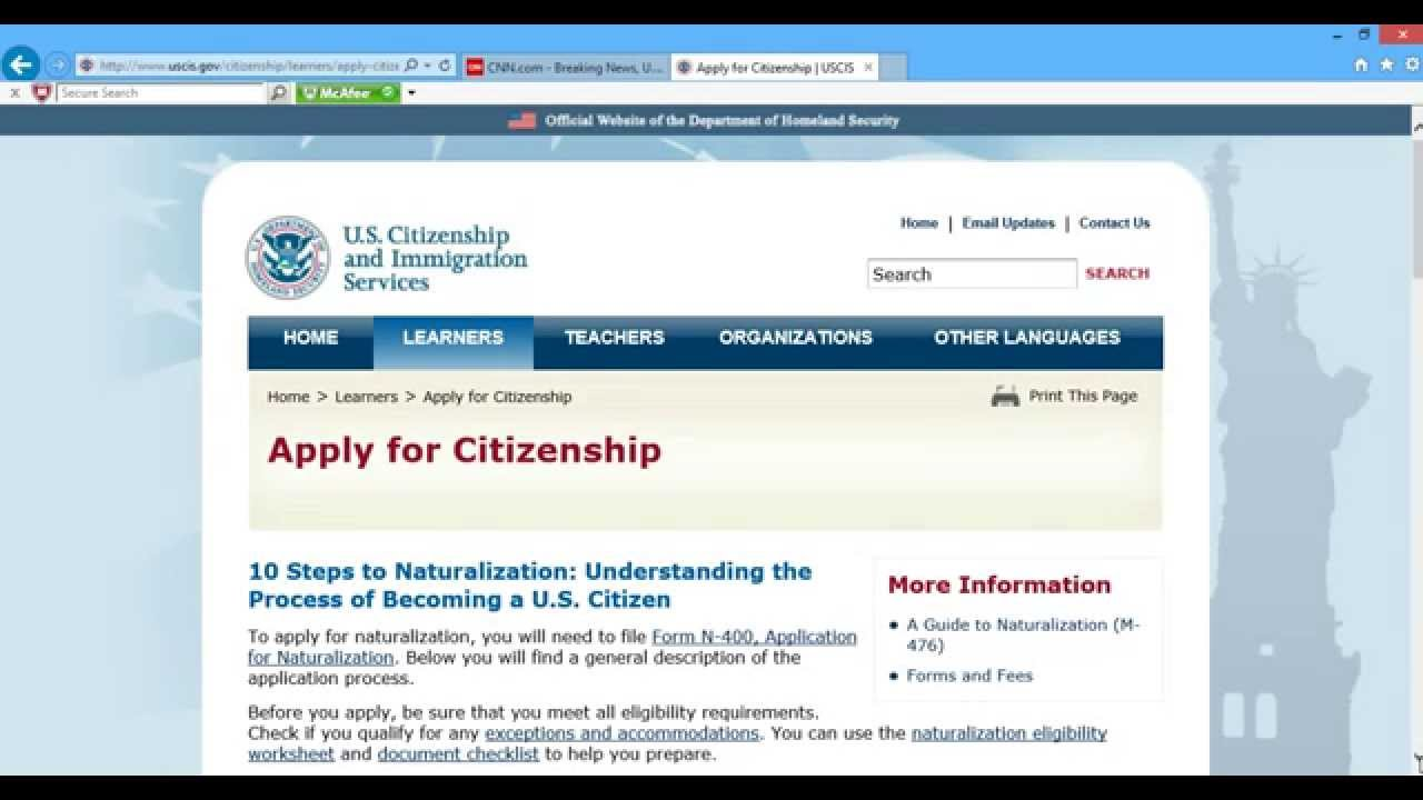 How to apply for us citizenship part 1 youtube falaconquin