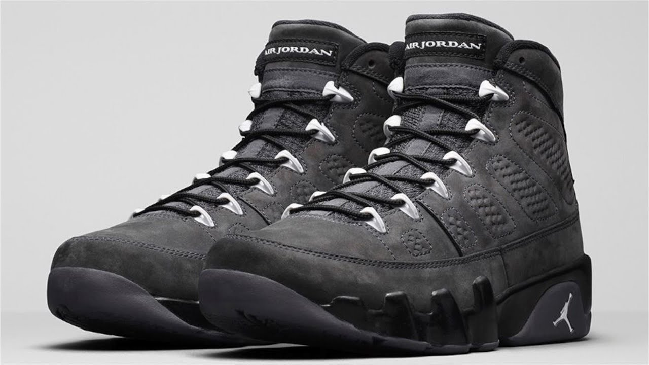 air jordan retro 9 anthracite black&white wallpaper