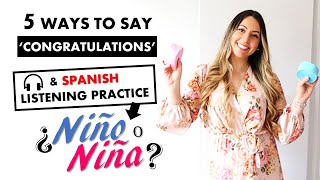 5 ways to say Congratulations in Spanish and Spanish Listening Practice Activity