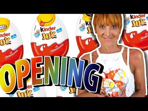 Opening 10 jajek KINDER JOY Emoji