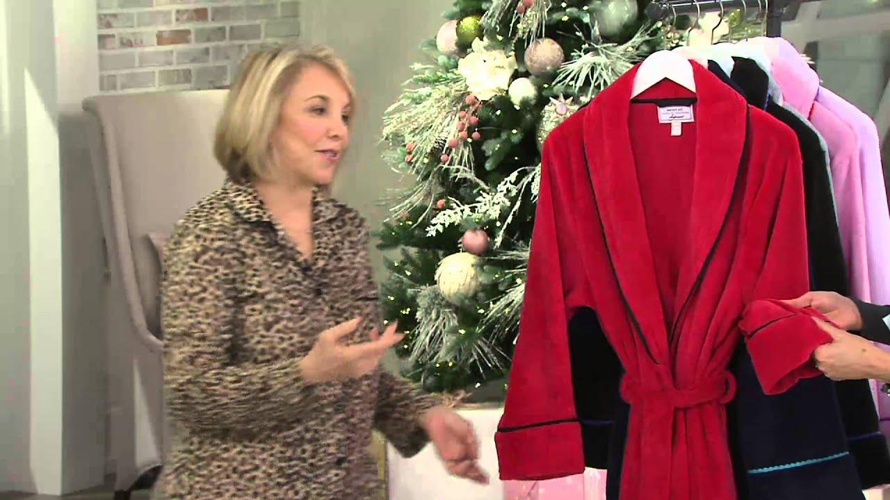 Carole Hochman Plush Mid-Length Wrap Robe on QVC - YouTube