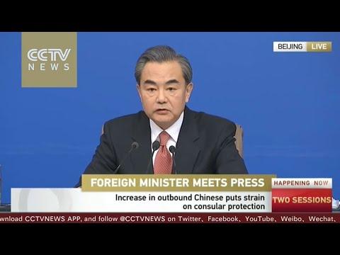 【V观Wang Yi: We will do everything to provide consular protection 王毅:同胞走到哪里 中国领事保护就把安全伞撑到哪里