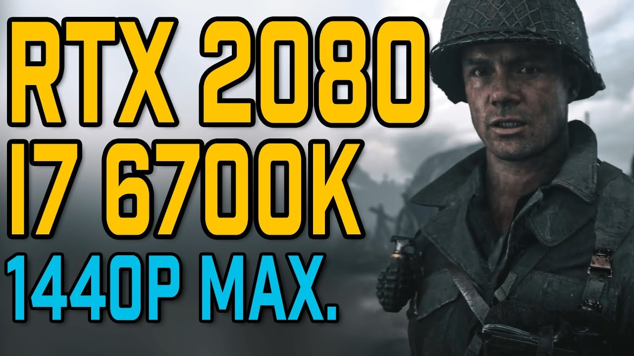 Call of Duty: WW2 | RTX 2080 & i7 6700K | 1440p Benchmark | Max  Settings