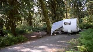 Douglas Fir Campground Drive Through. Camp Site Photos. Washington State Camping.