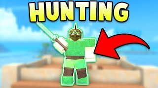 HUNTING PLAYERS WITH MY EMERALD ARMOR! (ROBLOX BOOGA BOOGA)