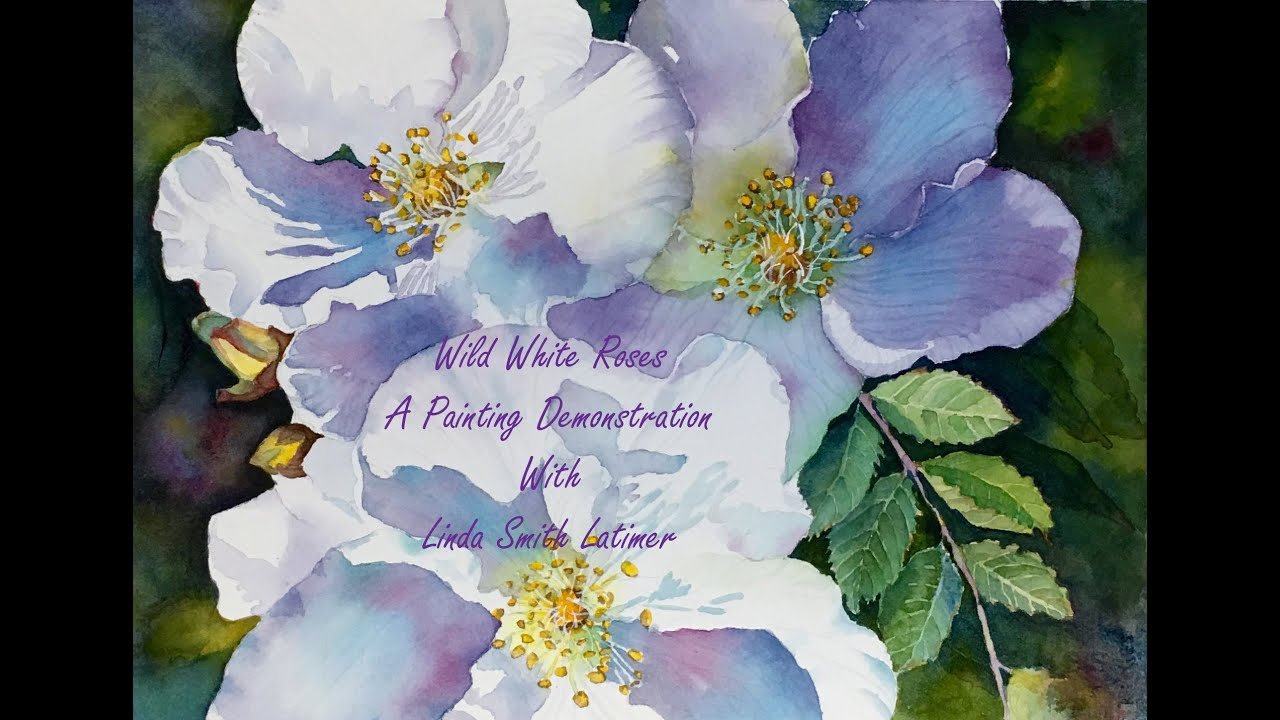 Wild white roses part one a painting demo youtube mightylinksfo