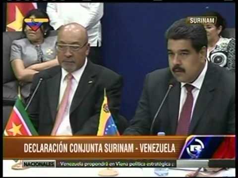 Venezuela y Surinam firman acuerdos económicos bilaterales