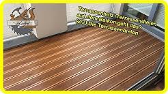 Terrassenbau / Terrassenholz /Terrassendielen auf dem Balkon geht das? (2/2) Die Terrassendielen