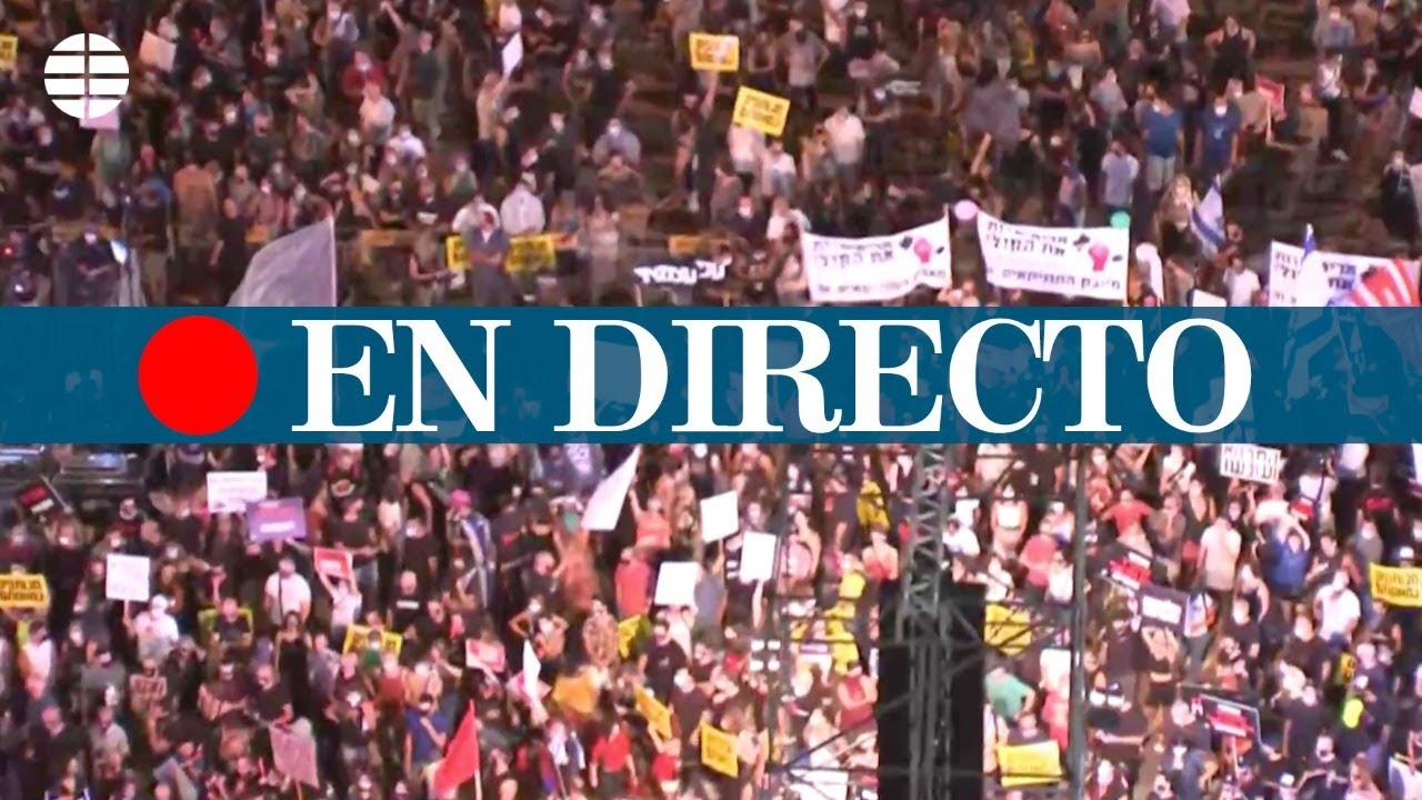 DIRECTO | Manifestación en Tel Aviv contra la respuesta del Gobierno a la pandemia
