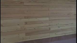 Beautiful Salmon Colored Wall Paneling From Scrap Lumber S12