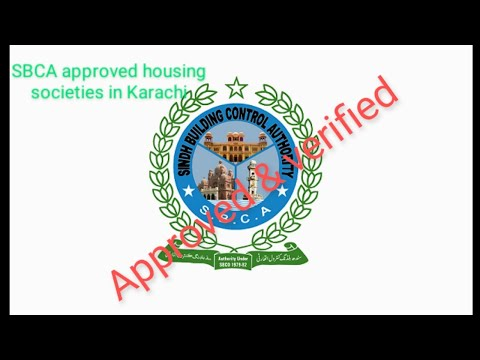 Names of legal housing societies in Karachi (SBCA approved)