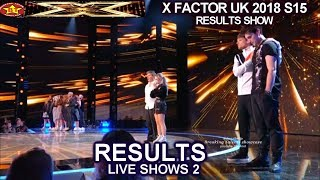 RESULTS  ELEVEN ACTS SAFE & THE BOTTOM TWO  | Live Shows 2 RESULTS X Factor UK 2018