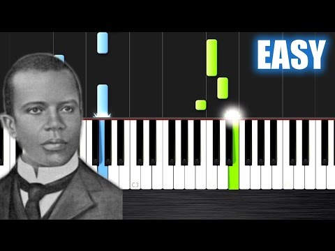 Scott Joplin - The Entertainer - EASY Piano Tutorial by Plutax