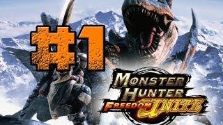Monster Hunter Freedom Unite | Episode 1 | Hunt The Carnivores | Killing Some Giaprey