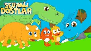 Dinozorlar  Sevimli Dostlar bebek şarkıları ile dinozorları tanıyorum  Adisebaba çocuk şarkısı