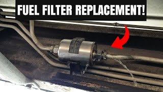 how to replace a fuel filter on a gmc sierra & chevy silverado! - youtube  youtube