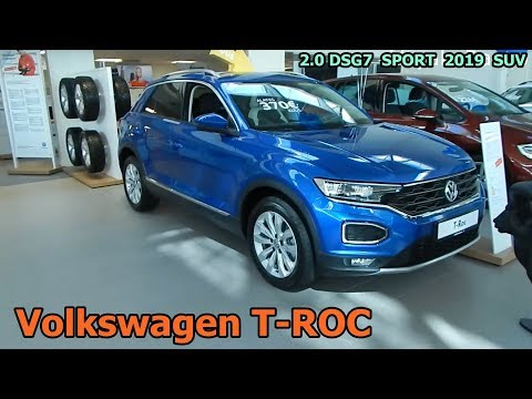 Volkswagen T-ROC  2.0 DSG7  SPORT  2019    SUV  кроссовер  экстерьер , интерьер   круто и дорого