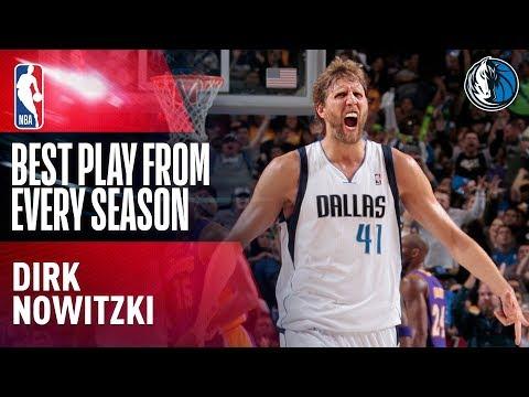 Dirk Nowitzki's Best Play of Each Season In His NBA Career!