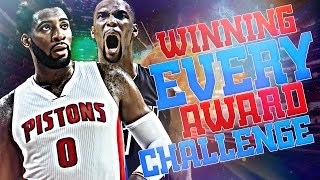 WINNING EVERY AWARD CHALLENGE! NBA 2K17 MY LEAGUE!!