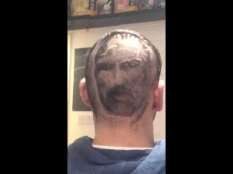 The godfather hair art portrait, hair designs, barber, irish barber, hair tattoos