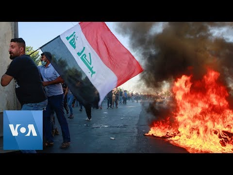 Soldiers Fire, Protestors Disperse at Baghdad Protests in Iraq