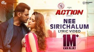 Action Nee Sirichalum Lyric | Vishal, Tamannaah I Hiphop Tamizha I Sadhana Sargam | Sundar C