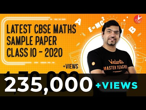 Class 10 Maths Sample Paper 2020 | SOLVED!! Basic, Standard Maths - New SAMPLE Paper Pattern