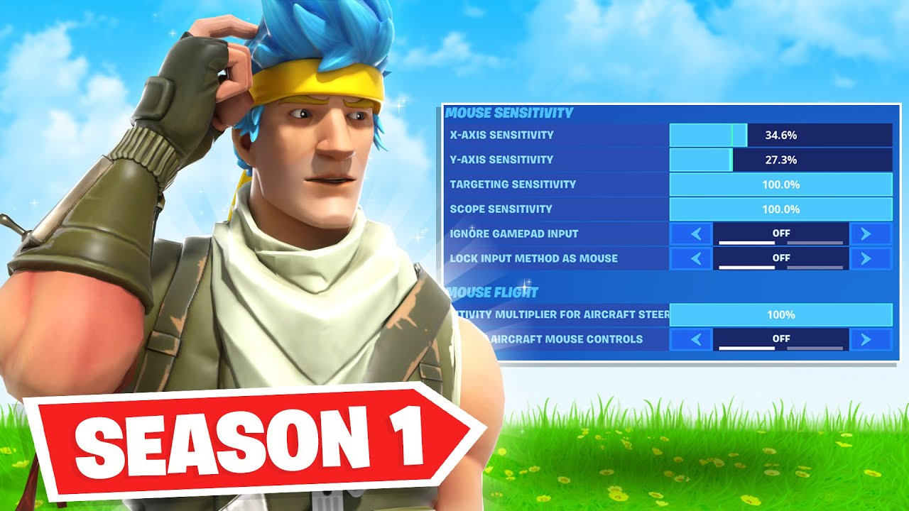 So I copied NINJA's Fortnite Season 1 Settings... (impossible)