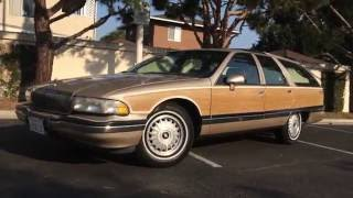 1993 Buick Roadmaster Estate Wagon walk around and tour.