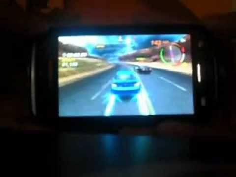 Samsung Galaxy W I8150 Playing Need for Speed Hot Pursuit HD Racing Game