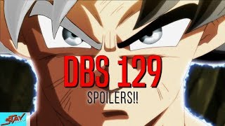 OFFICIAL!! Dragon Ball Super Episode 129 SPOILERS Revealed! Mastered Ultra Instinct Goku vs Jiren