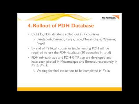 World Vision - PDH DB Orientation Video