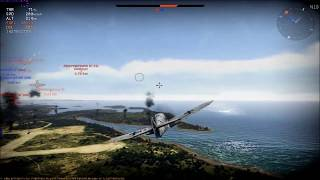 War Thunder Bf-109F4 8 air victories+11 ground targets no deaths
