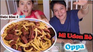 ❀//Vlog 234// Lần Đầu Trải Nghiệm Mì UDon Thịt Bò Phong Cách Oppa Hàn Quốc - Và Cái Kết...