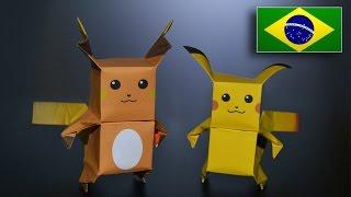 Origami: Pikachu & Raichu - Intruções em Português PT-BR