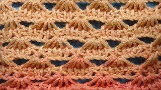 Ажурный узор Тунисское вязание tunisian crochet 61
