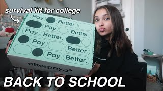 unboxing a back to school survival kit from afterpay!