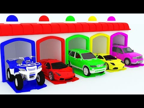 Thumbnail: Learning Colors For Children With Cars & McQueen Trucks Garage Toys - Learn Colours For Kids