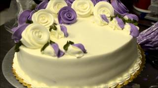How to make birthday cake with eatable flowers in less then 5 minutes