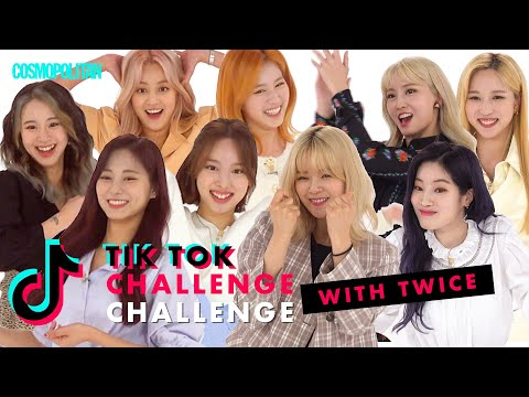K-Pop Girl Group TWICE Nailed These Crazy TikTok Dances | TikTok Challenge Challenge | Cosmopolitan