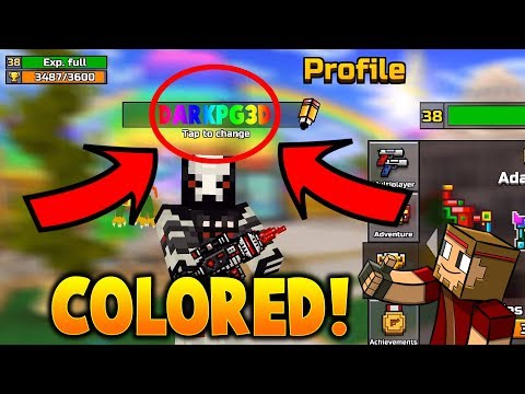 How To Get COLORED NAMES IN Pixel Gun 3D! (2018)
