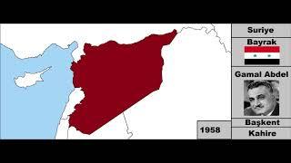 Suriye Devleti Kuruluştan Günümüze (Harita) Her Yıl
