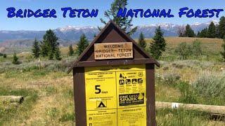 Jackson Wyoming for supplies, Free Camping Grand Teton - Van life