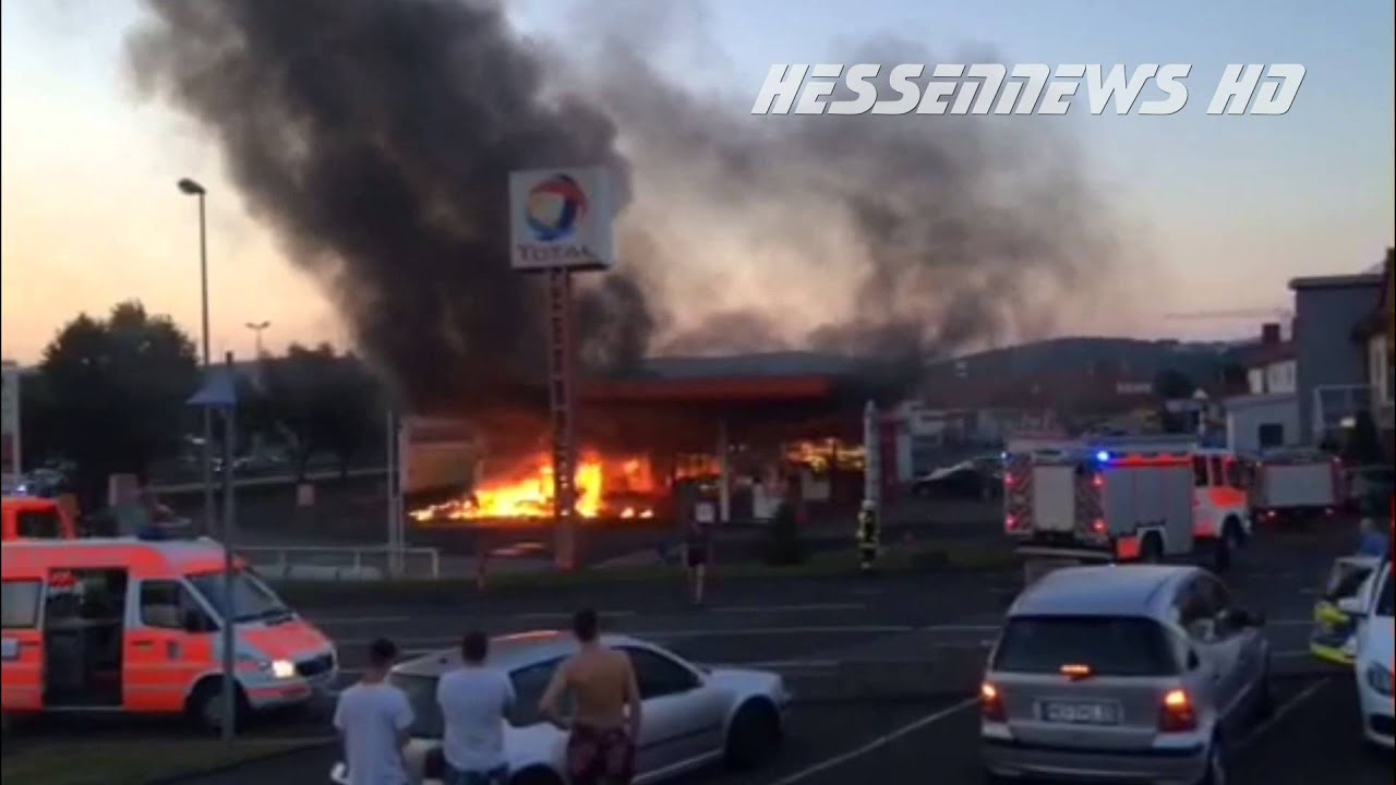 Brand in Tankstelle Bad Hersfeld - 03.07.2015 - YouTube