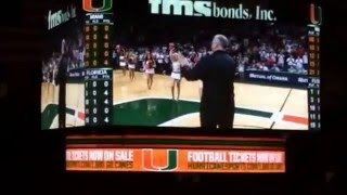 Canes Football Coach Mark Richt is introduced to the crowd at the Bank United Center 12-8-15