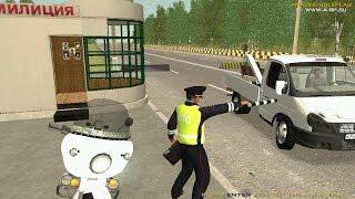 ДПС. Патруль на мото - GTA: Криминальная Россия (по сети) Amazing RP.