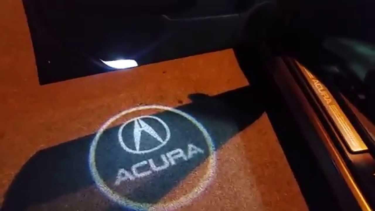 Acura Door Welcome Logo Light Youtube