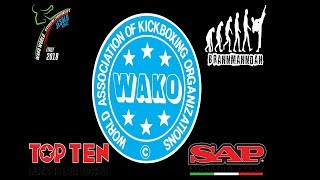 Tatami 1,2,7,8 Thursday WAKO World Championships 2018