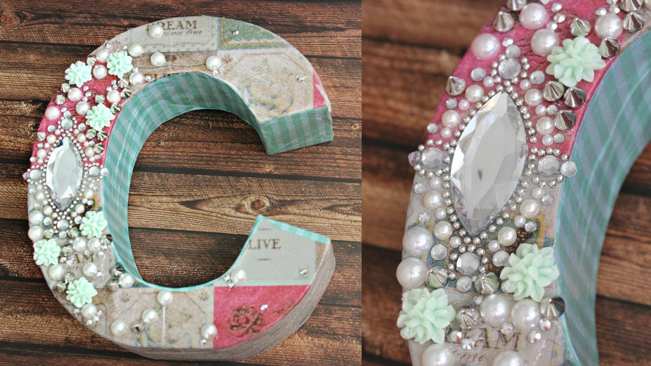 DIY: Decoupage Letters For Your Room! DECODEN!   YouTube